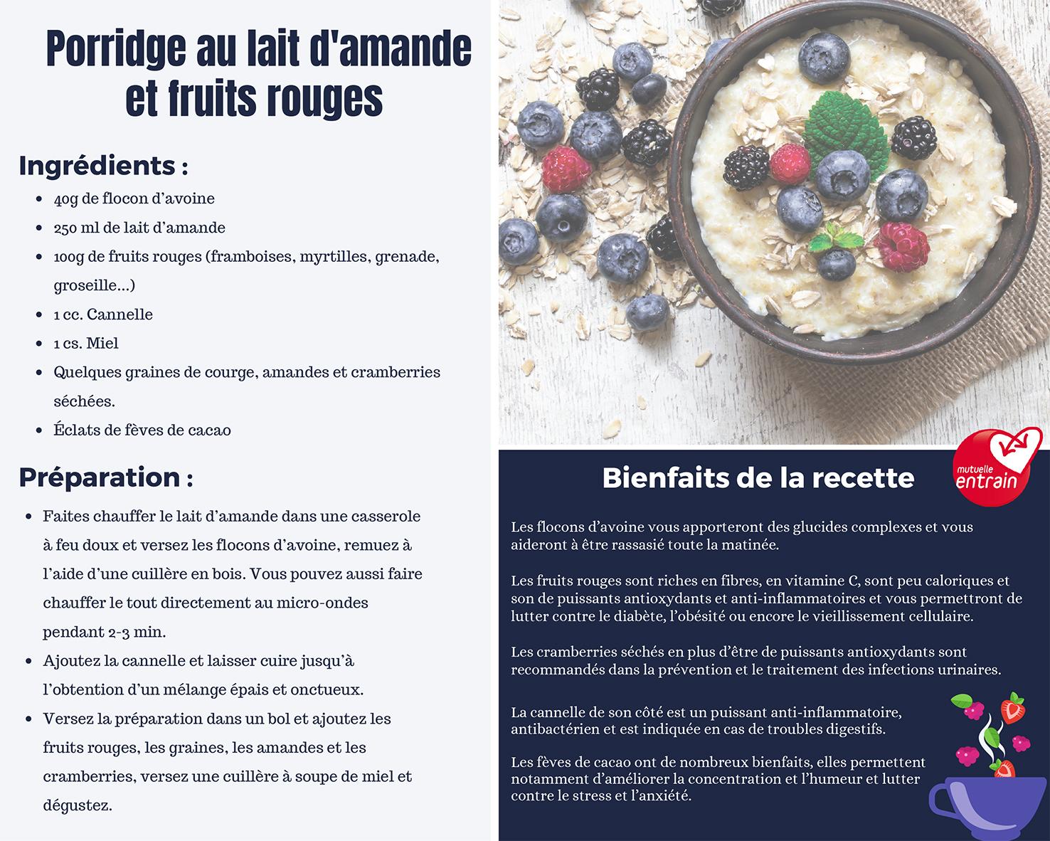 Recette porridge anti-inflammatoire